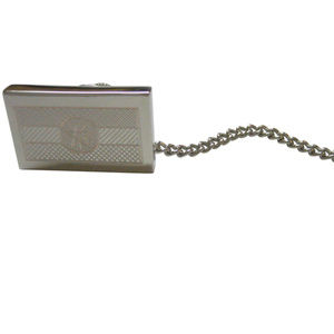 Silver Toned Etched Ethiopia Flag Tie Tack